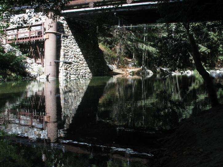 big, campground, water, bridge