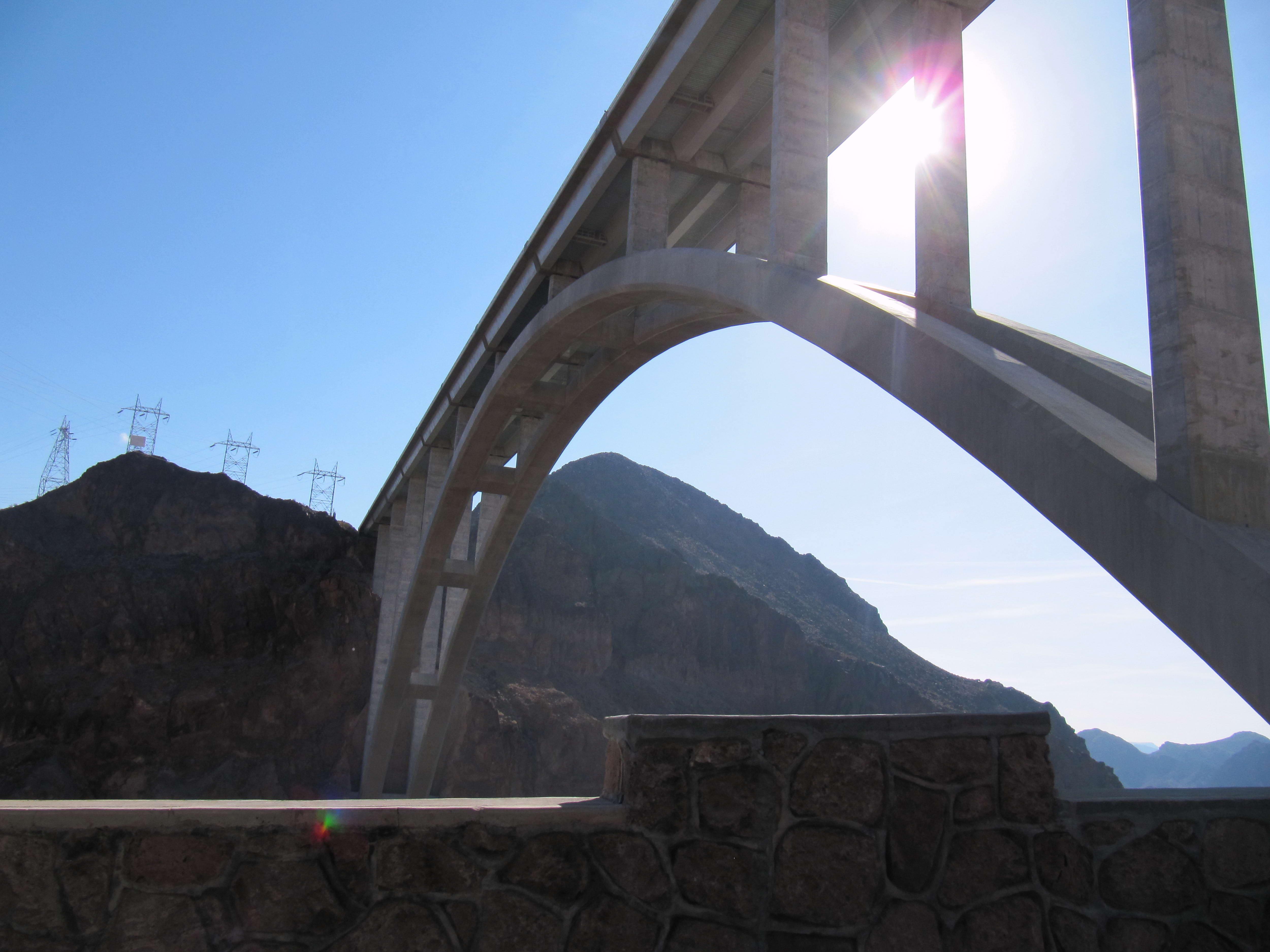 Free photograph; bridge, Hoover, dam, Nevada
