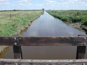 bridge, small, river