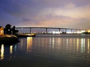 bridges, night