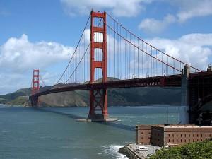 golden, gate, bridge, fort, point, Francisco
