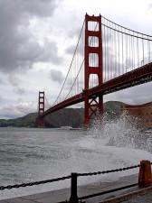 golden, gate, bridge, San Francisco, fort, point