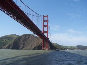 golden, gate, bridge, water