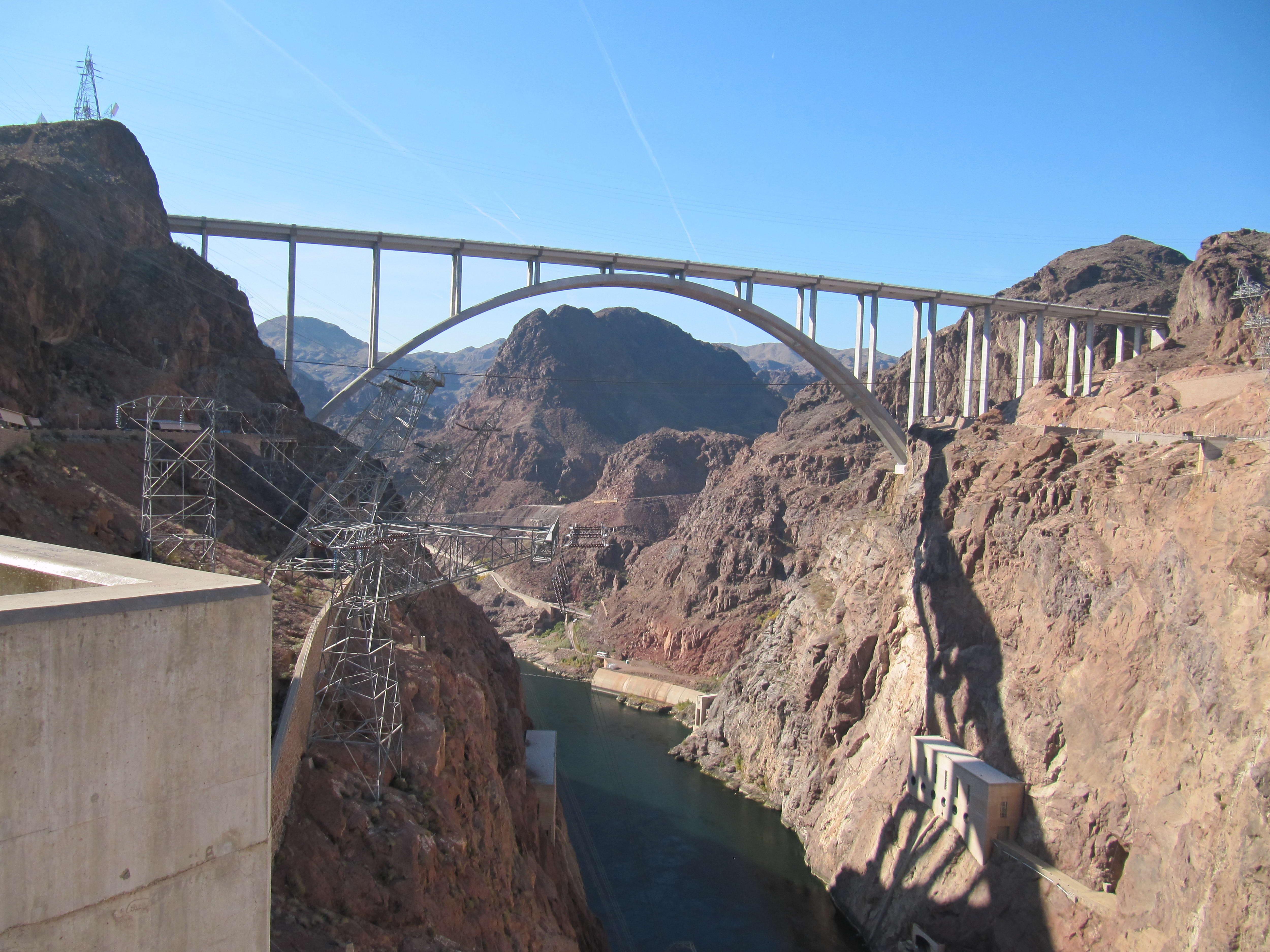 Free photograph; hoover, dam, bridge, Nevada, country