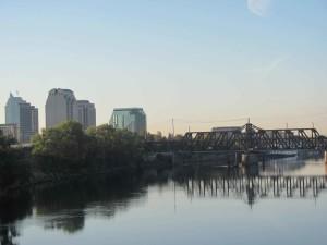 Jibboom, strada, ponte, americano, fiume