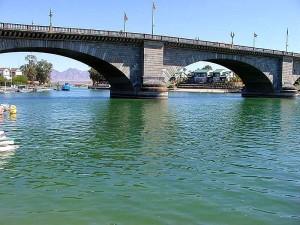 londres, pont, l'eau