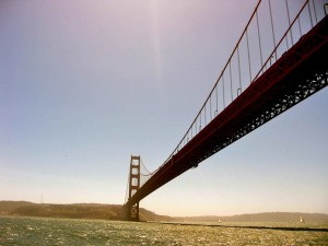 橋、スパン、サンフランシスコ、サンフランシスコ湾します。