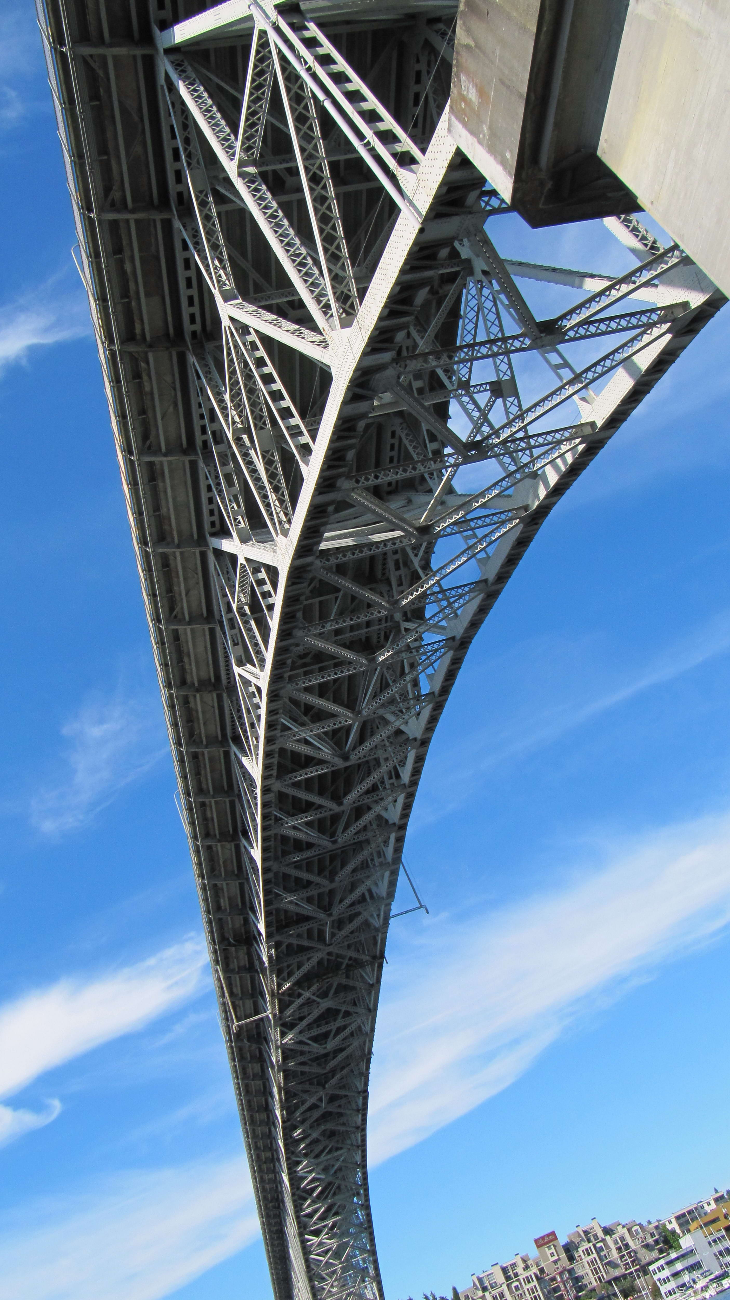 Free photograph; seattle, bridge, arch