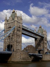 tower, bridge, London, England