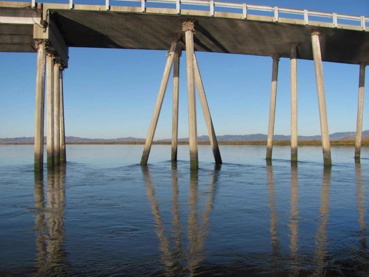 undersidan, bridge, passerar, sacramento, floden, beldens, landning