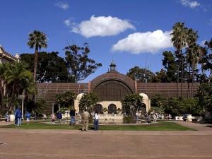 botanique, bâtiment, Balboa, parc, San Diego