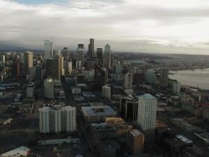 byggnad, utrymme, nål, Seattle