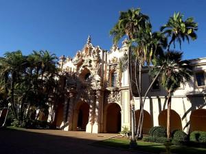 bâtiments, prado, Balboa, parc, San Diego