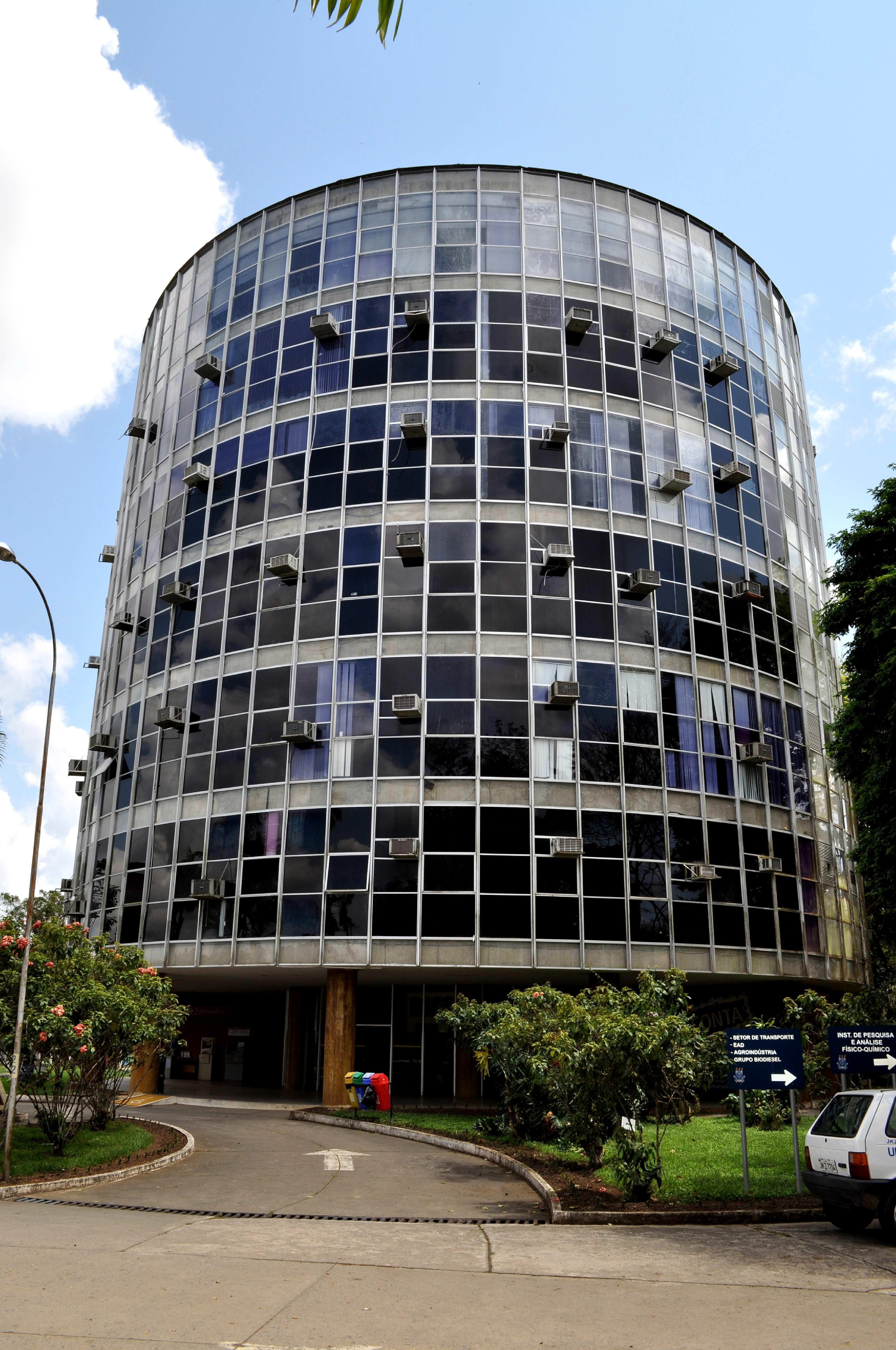 Free photograph; circular, building, glass