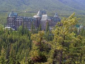 mont, banff, Federn, Hotel, Banff, Kanada
