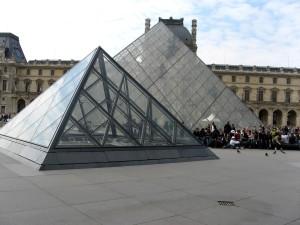 Лувъра, пирамида, Париж, архитектура