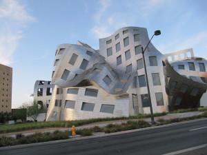 moderne, bâtiment, architecture, Vegas