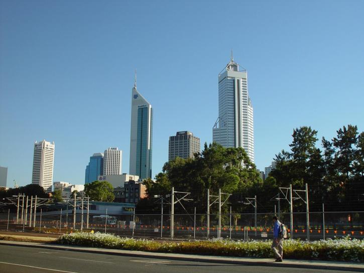 perth, skyline, buildings