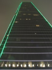 gratte-ciel, le néon, le centre-ville, dallas