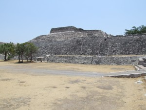central, templo, Xochicalco