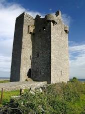 gleninagh, château, colline