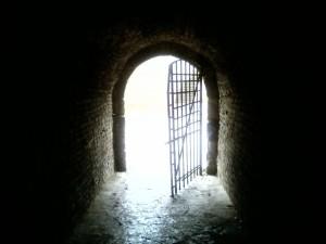 light, door, tunnel