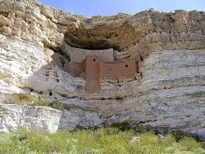 montezuma, castle, cliff, Indian