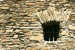 régi, az ablak, a vár