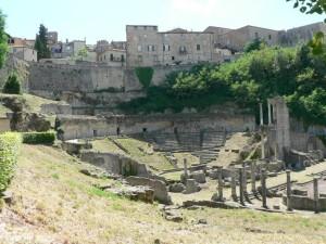 roman, theatre, old, architecture
