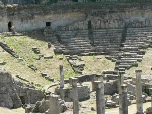 romano, teatro, romano, architettura