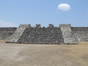 ruined, temple, entrance, Xochicalco