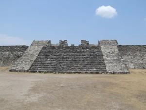 ruiné, temple, entrée, Xochicalco