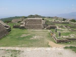 ruines, monte, Alban, architecture