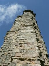 cathédrale, vieux, tour, briques
