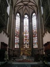 cathédrale, fenêtre,