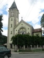 église, haute, tour