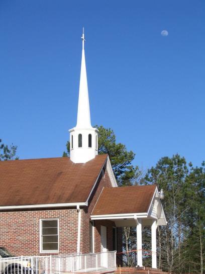church, steeple, bell