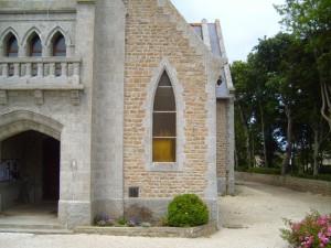 vieux, église catholique, avant