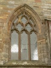vieux, église, fenêtre