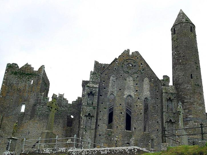 rock, cashel, ruins, round, towers