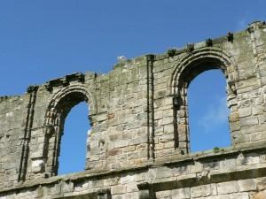 deux, vieux, fenêtres, cathédrale, Andrew