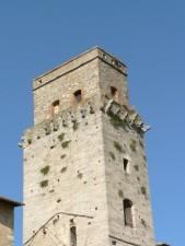 village, church, tower