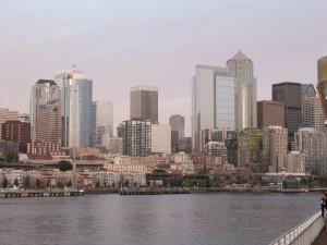 veliki, moderni, zgrade, Seattle