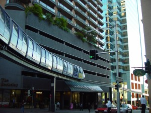 monorail, Sydney, downtown