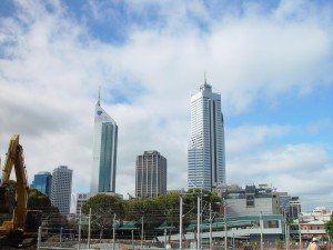 perth, skyline, downtown