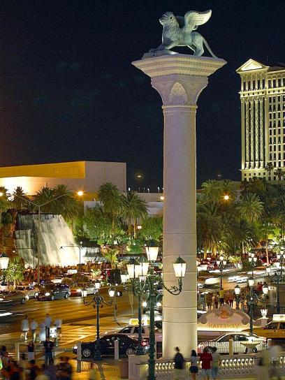 pillars, Vegas, night, venitian