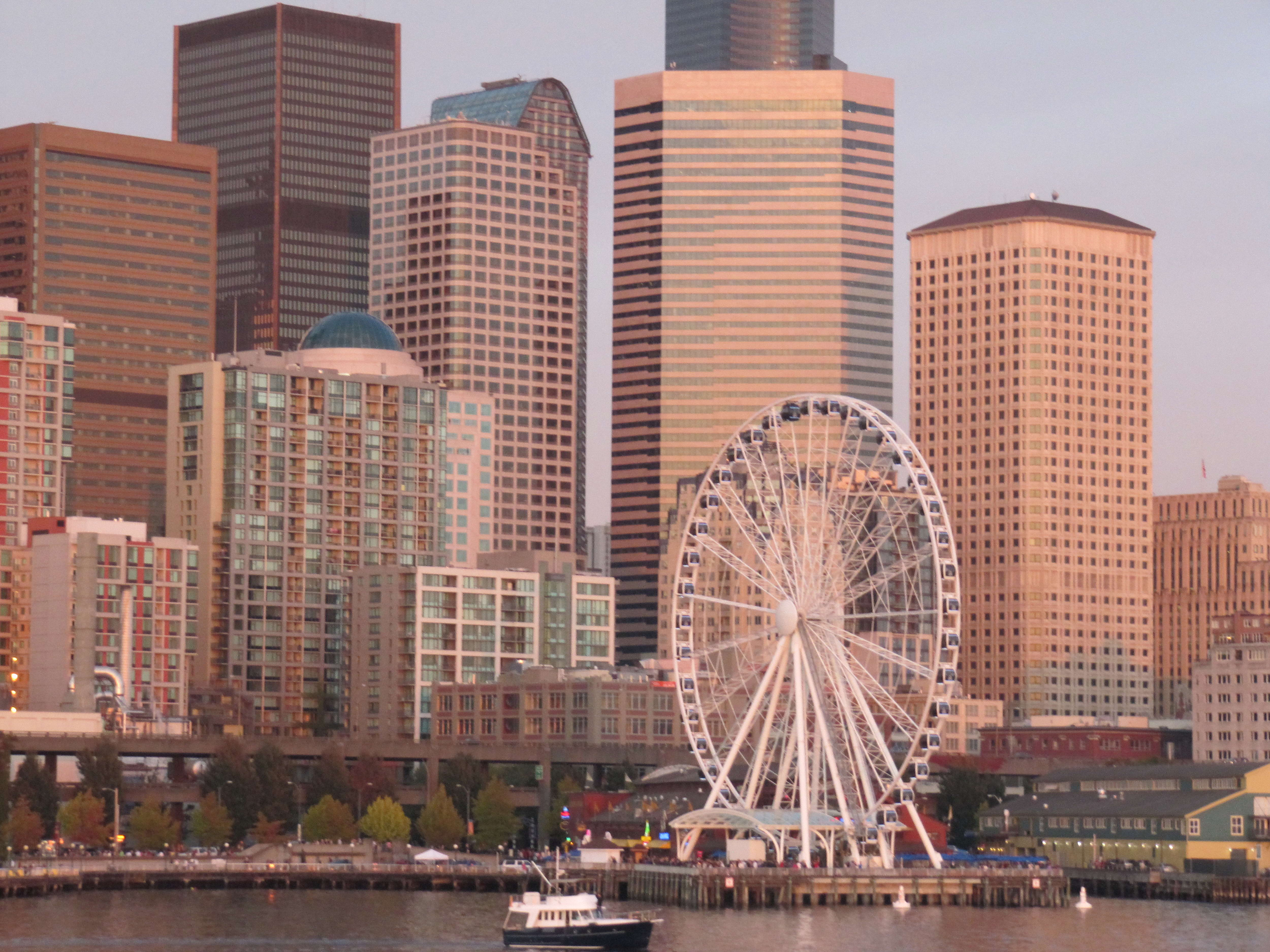 Free photograph; seattle, downtown, buildings