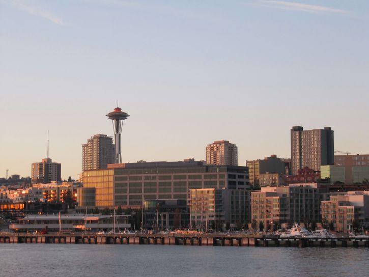 Seattle, grad, s pogledom na vodu