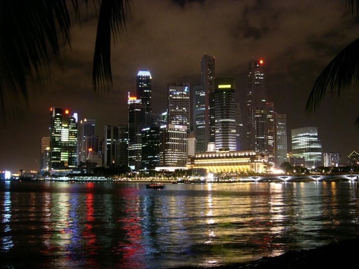 singapore, night