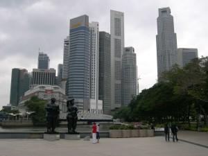 singapour, paysage urbain